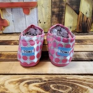 Toms Shoes - Toms Size Y4.5 Pink/Silver Polka Dot